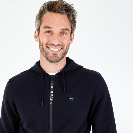 Sweatshirt zippé à capuche...